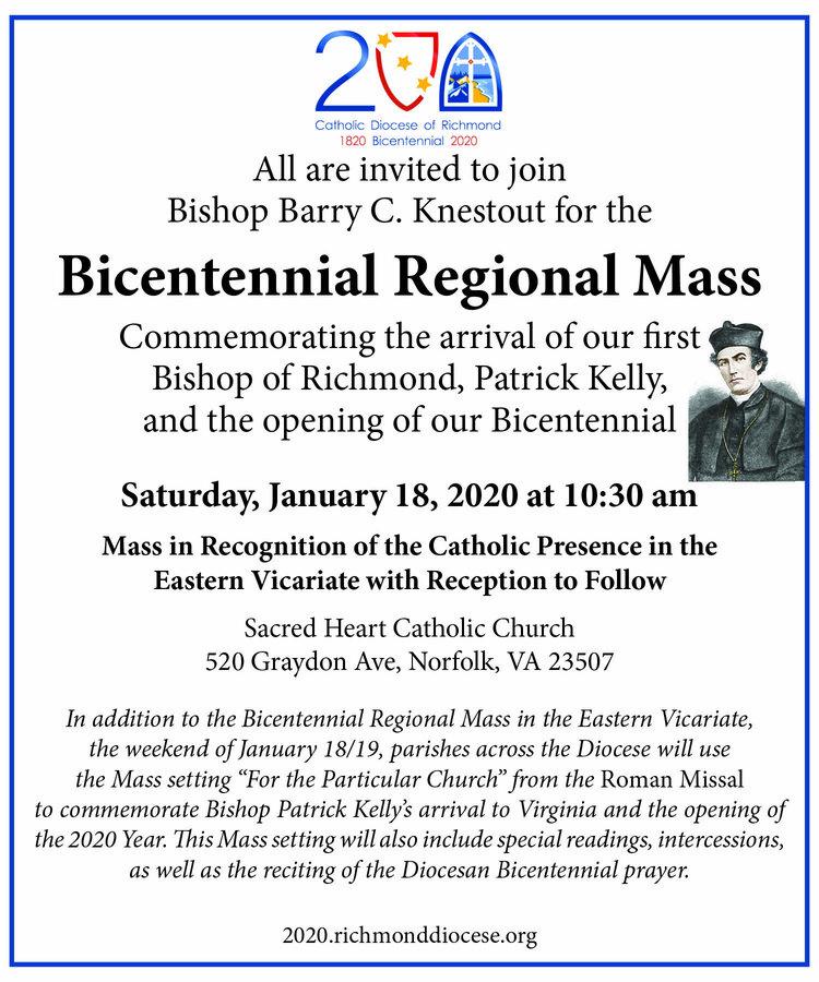Bicentennial Regional Mass Invite